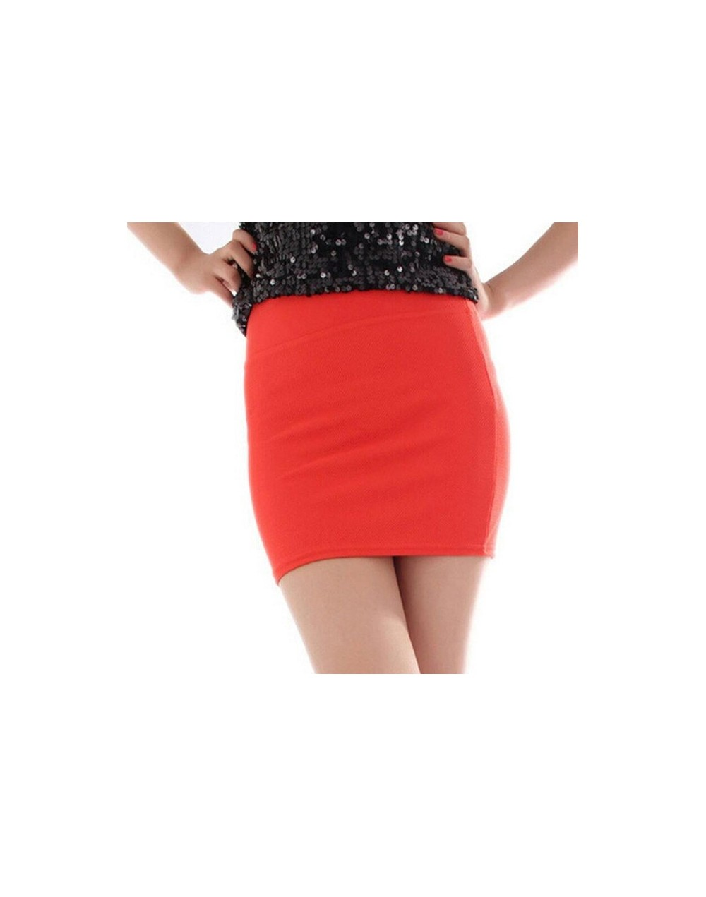 Women Ladies Sexy Summer Package Hip Pencil Skirt Seamless Elastic Pleated High Waist Slim Mini Skirts For Office Party - Q0...