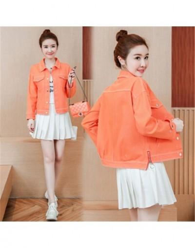 2019 Korean Jeans Jacket Women Spring Autumn Long Sleeve Solid Basic Coats Female Fashion Short Casual Loose Denim Outwear R...