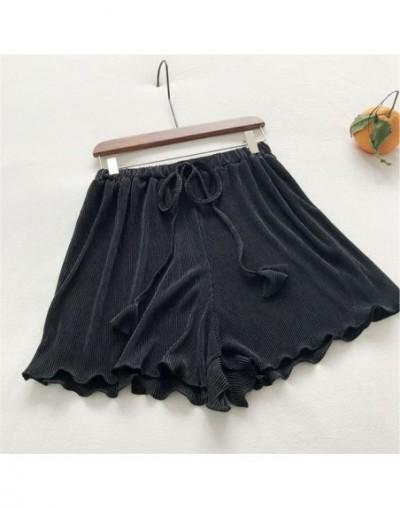 Fashion Drawstring Short Femme Wide Leg Womens Shorts Harajuku Loose Pleated Summer Shorts Hotpants Beach Ladies Shorts C525...