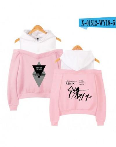 Post Malone Fashion Printed Off Shoulder Hoodies Women Long Sleeve Hooded Sweatshirt 2019 Hot Sale Casual Streetwear Clothes...