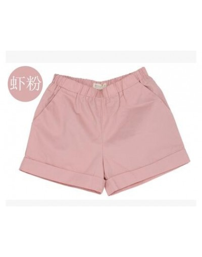 Casual cotton Candy color Loose hot shorts 2019 Summer woman beach Elastic waist mid band Solid Slim Shorts plus size S-4XL ...