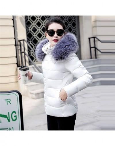 New Winter Jacket For Women Plus size 5XL Thick Warm Winter Coat Female Down Jacket Women Wadded Fake fur collar Jackets Par...