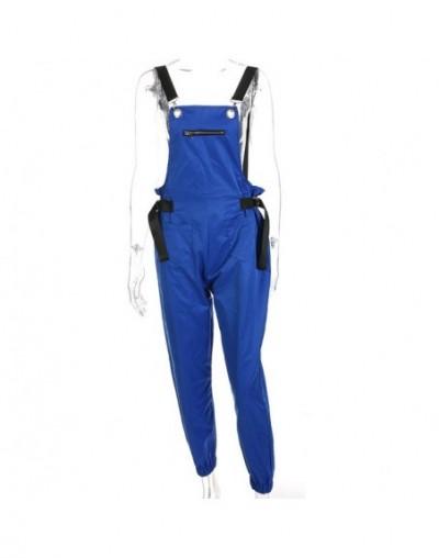 Casual Romper Jumpsuit Long Women Sleeveless Backless Playsuit Summer Female Multi-pocket Korean Style Overalls - Blue - 4I3...
