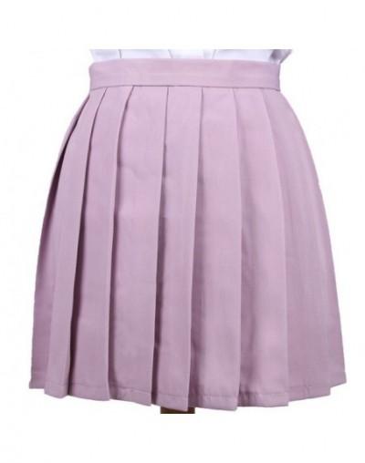 Preppy Style Women Pleated Skirts Anime Cosplay Uniform Skirt Solid Color Kawaii High Waist Mini Skirts for Girl Saias Femal...