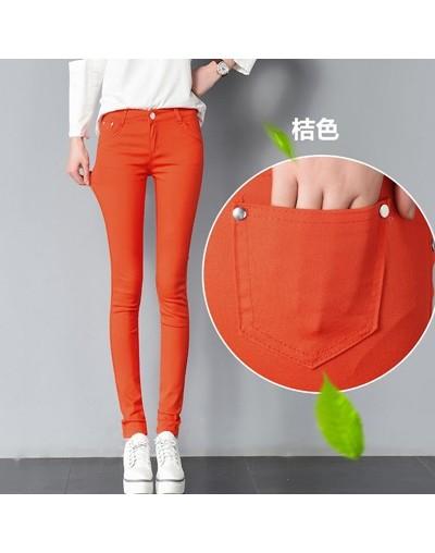 Womens 20 colored skinny jeans plus size street fashion Sexy low rise waist denim trousers women ladies blue pencil jeans pa...