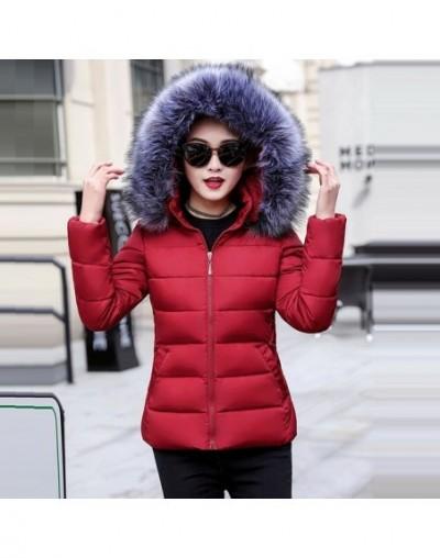 New Winter Coat Women With Detachable Hat Faux Fur Collar Zippers Pockets padded Ladies Cotton Coat Winter Jacket Womens Par...