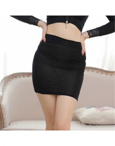 High Cut Tight Pencil Cute Skirt Ice Silk Smooth See Through Micro Mini Skirt Transparent Night Club Skirt High Waist F7 - B...