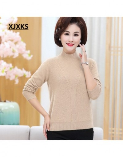 High-end cashmere + rabbit cashmere sweater winter 2018 new knitting Turtleneck bottoming shirt comfortable pullover women -...