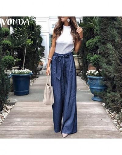 Summer Pants 2019 Loose Denim Wide Leg Pants Jeans Elastic High Waist Trousers Womens Clothing Casual Bottoms Pantalon 5XL -...