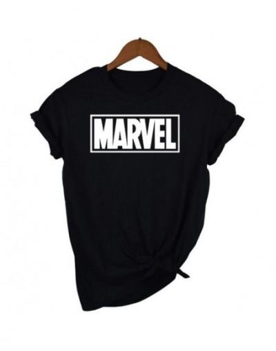 Fashion Marvel Short Sleeve T-shirt Women Black Panther print t shirt O-neck comic Marvel shirts tops Women white clothes Te...