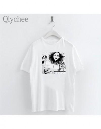 Harajuku Dark Anime Heads Print Female White T-shirt Crew Neck Short Sleeve T-Shirts Women Simple Casual Top Tee - - 434126...