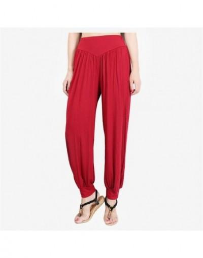 Harem Pants Woman Candy Colors Lantern Pants Dance Tai Chi Full Length Smooth No Shrink Anti-static New Trousers Fast Shippi...