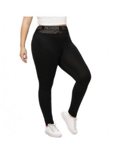Fashion Plus Size 5XL Womens Leggings Workout Fitness Skinny Pencil Pants High Waist Letter Print Wiast Band Streetwear Legg...