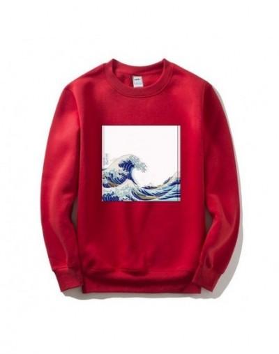 The Great Wave off Kanagawa Men Women Sweatshirt Mens Casual Jacket Man Casual Homme Hoodie Streetwear High I37X2 - Red - 4H...