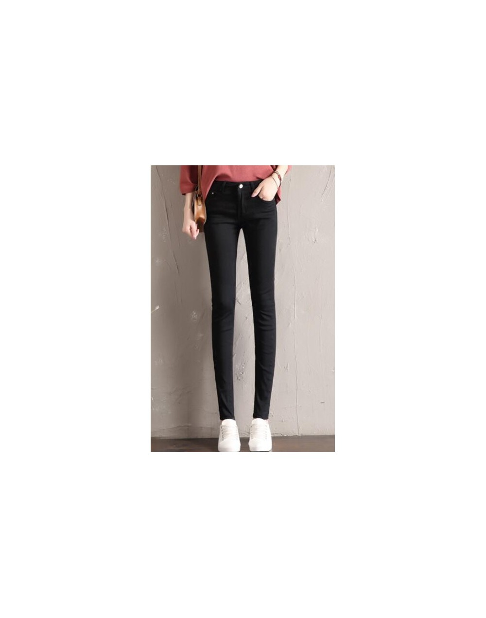 2019 Spring Summer Women Jeans Skinny Denim Pants Female Vintage Slim Casual Elastic Stretch Jeans Demin Pencil Pant Trouser...