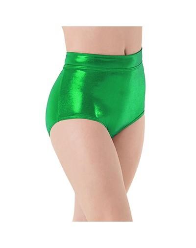 Women Mid Waist Metallic Shorts For Adults Ballet Performance Dance Bottoms Basic Booty Shorts Fitness Underpants Girls - Gr...