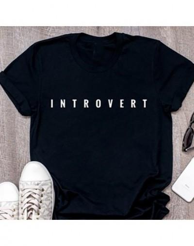 T Shirt Unisex Plus Size Women Shirts Tshirt Women Men T Shirt Slogan Graphic Tees Dream INTROVERT Super Soft Tops Tee XS-3X...