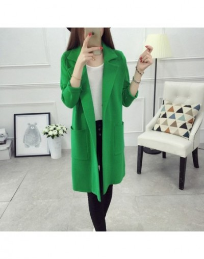 2019 Autumn Winter Sweater Women Cardigans Casual Long Sleeve Turn-down Collar Thick Warm Coat Female Cardigan Winter Clothe...