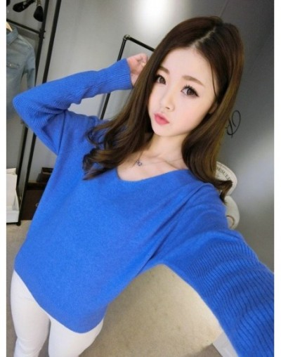 2018 spring autumn cashmere sweaters women fashion sexy v-neck sweater loose wool sweater batwing sleeve plus size pullover ...
