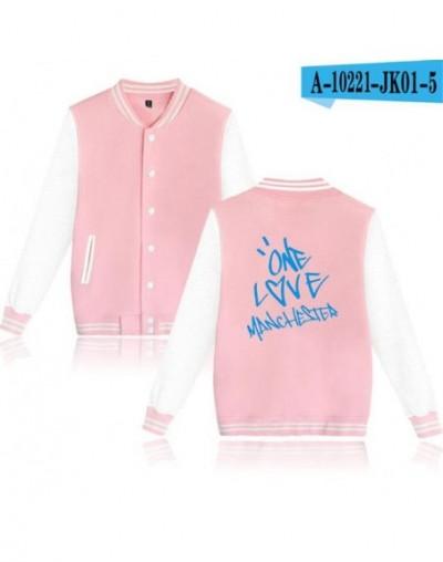 American Singer Ariana Grande Women/Men Hoodie Sweatshirt Long Sleeve Fleece Baseball Uniform Winter Jacket Female Coat Outw...
