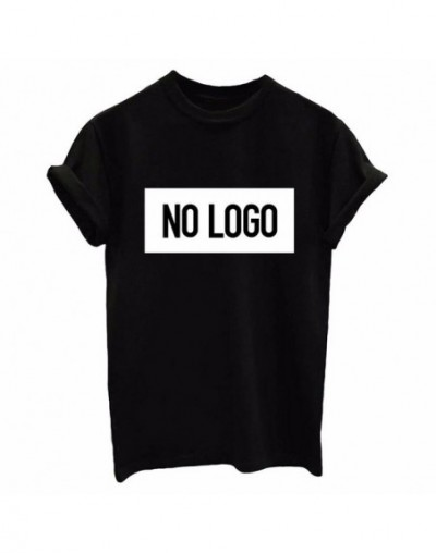NO LOGO Letters Print Women tshirt Cotton Casual Funny t shirts For Lady Top Tee Hipster Drop Ship Tumblr SB12 - Black - 4M3...