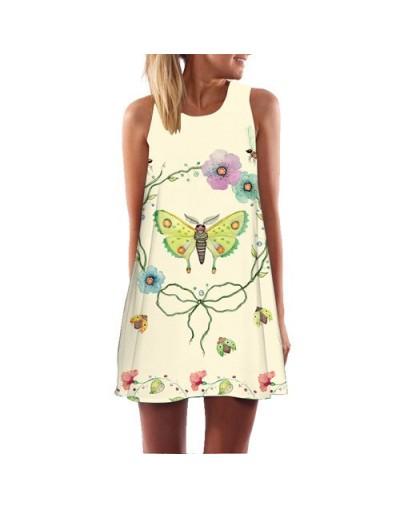2018 Summer Dress Floral Print Boho Dresses For Women Casual Beach Dress Sleeveless Chiffon Dress Vestidos De Fiesta - 222 -...