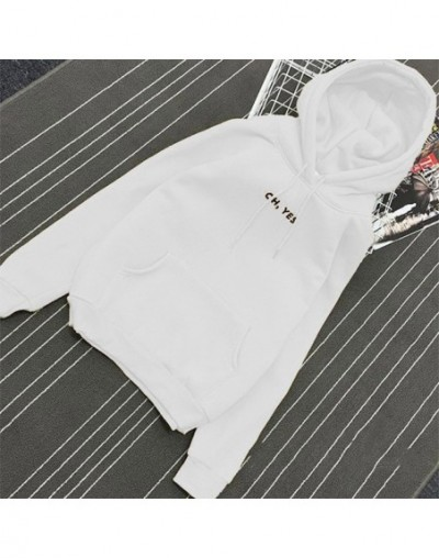 Fashion Corduroy Long Sleeves Oh Yes Letter Printing Harajuku Girl Light Yellow Pullovers Tops O-neck Woman Sweater - White ...
