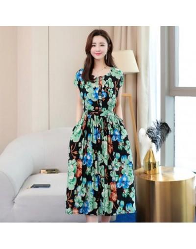 Plus Size 2019 Summer New Short-sleeved Print Vintage Dress Loose Long Dress XL-6XL Women Dress RE2336 - 10 - 423004408428-7