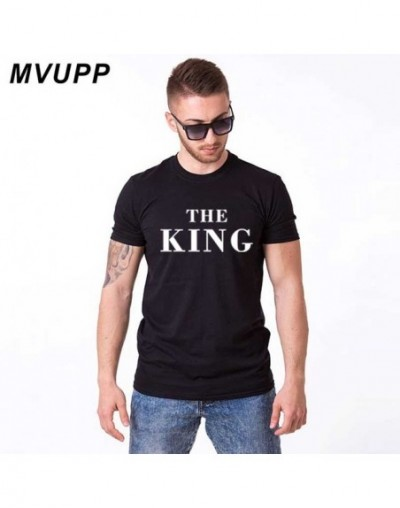 King Queen couple t shirt for men and women husband wife matching clothes pluse size white black boyfriend girlfriend family...