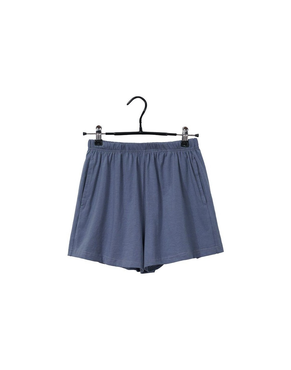 13 solid colors soft cotton spandex black blue casual running summer women pockets shorts workout wear plus size M30182 - 2 ...