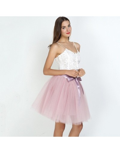 7Layered 50cm Tutu Tulle Skirts Womens High Waist Swing Dolly Ball Gown Underskirt Mesh Summer Midi Skirt Faldas Saias Jupe ...