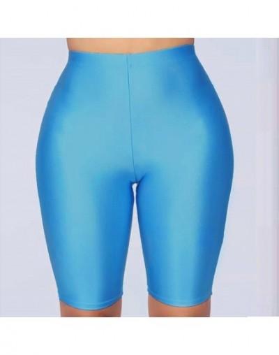 NewAsia Shiny Sexy High Waist Shorts Women Biker Shorts Summer Classic Casual Active Wear Gloss Slim Fit Shorts Women Fitnes...