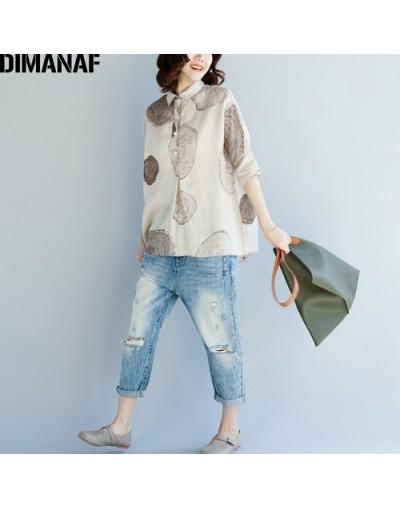 Women Blouse Shirts Plus Size Female Clothing Print Paisley Cotton Thin Basic Tops Loose Half Sleeve Blouse Summer 2018 - ZI...