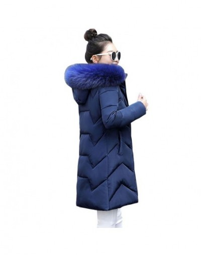 Plus size 6XL Womens Down jacket New 2019 Fashion Winter Coat Women Long Parka Warm Thicken Winter Jacket Female Cotton Outw...