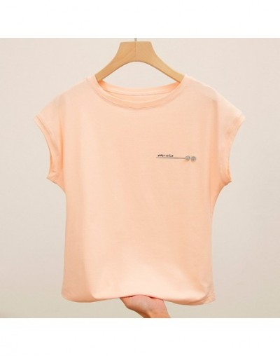 Loose T shirts Women 2019 Summer Tees O-Neck Batwing Sleeve Tops Plus Size Letter T shirt Cotton Elastic Basic White Black P...
