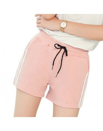 2019 Summer Women's Shorts Loose Drawstring Outer Wear Sports Lace Shorts Sashes Solid Mid Waist Casual Shorts Black Pink Wh...