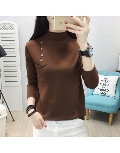 2019 Brand Fashion Autumn Winter Warm Sweater Long-Sleeve Elastic Sweater Female Pullover Turtleneck Knitted Sweaters Tops -...