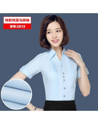 Summer white short-sleeved shirt OL 2016 Hot Women fashion white blouses work wear Office Tops casual Plus Size shirts S-5XL...