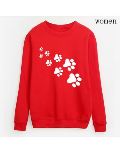 women Casual fleece hip hop tracksuits femme 2019 kawaii cat paws print sweatshirts fashion streetwear hoodies pullovers S-X...