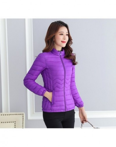 Thin Cotton Jacket Short Tops Winter Jacket Women Coat Korean Slim Plus size Female Parka Coat Wave pattern Padded Jacket - ...