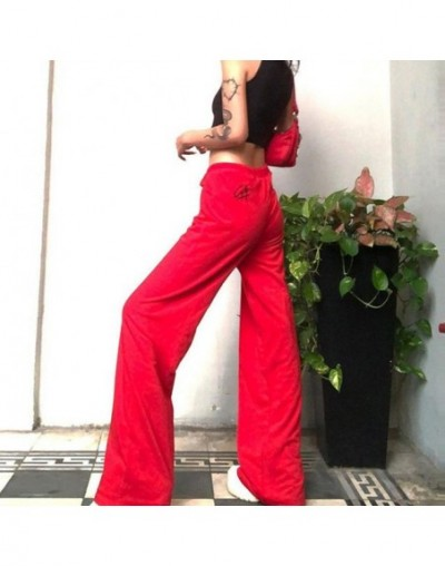 2019 New Fashion Casual Soft Wide Leg Women Pants Elastic Waist Solid Color Summer Loose Trousers High Waist Pant - Red - 4J...