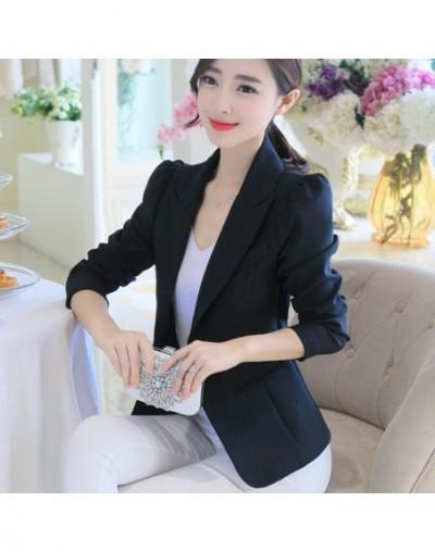 Autumn New Women Suit Long Sleeves Suits Female Coat Slim Blazers Fashion Office Jacket Pink Blue White Black Blazer Femme -...