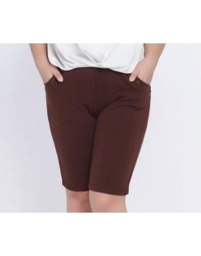 Plus Size 7XL 6XL 2018 Summer Shorts Women High Elastic Waist Shorts office lady women's Large Loose Short Trouser YH28 - Br...