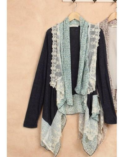 Autumn Oversized Cotton Long-Sleeve Asymmetrical Cardigan Women Vintage Mori Girl Style Leptonema Thin Knitted Outerwear 166...