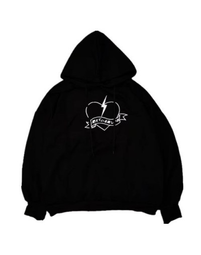 2019 New Fall Gothic Black Casual Office Lady Plus Size Women Sweatshirts Loose Hooded Animal Embroidery Female Fashion Hood...