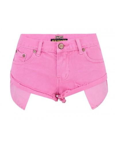 Summer Denim Shorts Women Sexy Mini Short Woman Shorts Jeans Pink - Pink - 4D3073839520