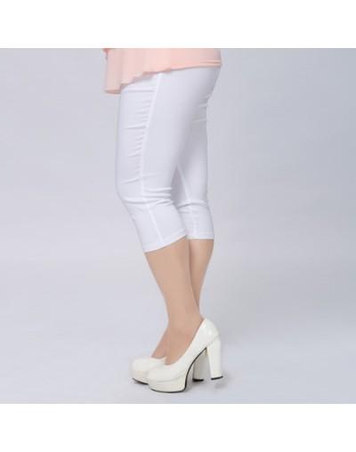 Good Quality Extra Large Size Women Capris Pants Super Stretch Summer Candy Color Plus Size Female Elastic Pants Calf length...