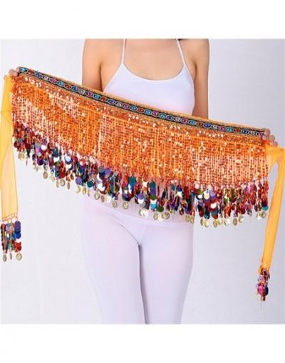 Sexy Tassel Fringe Sequin Skirts Women Summer Beach Stage Show Nightclub Party High Waist Bandage Mini Skirt - Orange - 4K30...