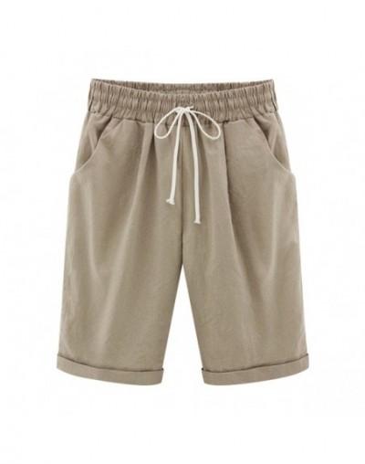 Summer Female Five Pants Thin Outer Wear Pants Large Size Women Slacks 6XL Casual Pants Harem Pants Beach Wear - Kahki - 4Q3...