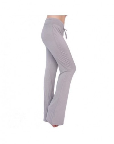 2018 Color Plus size spring Loose Wide leg pants modal female Casual dance soft home pants women Straight trousers - photo3 ...